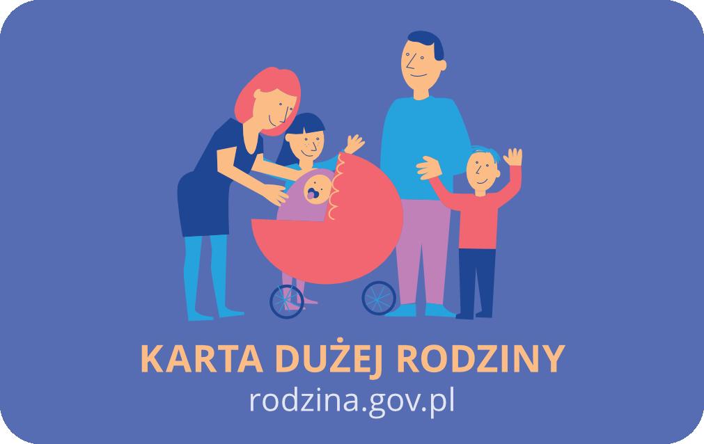 TU HONORUJEMY KARTĘ DUŻEJ RODZINY rodzina.gov.pl