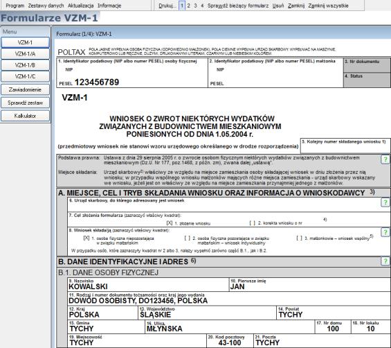 Odzyskasz Vat Z Bezpłatnym Programem Formularz Vzm 1 Podatkibiz